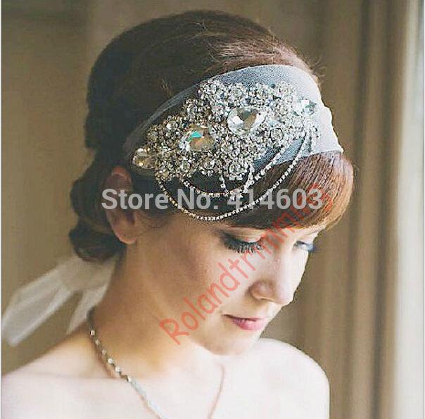 2015 new luxury fashion bride hair super flash rhinestone hairpin bride headband handmade jewelry DH297(China (Mainland))