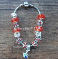 colorful rhinestone ball pendant bracelet manura chunky beads with hole bracelet lady party,women wedding bracelet free shiping