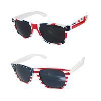 2015 Cool Plastic frame and PC lens Retro American England National Flag Sunglasses UV 400 Protection Fashion New