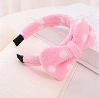 Free Shipping Lovely Butterfly Bow Hair Band Hairband Turban Wash Face Hair Towel Bands