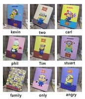 Soft Rubber Pu Leather Case Stand Cover For iPad Air God Steal Dads Despicable Me Minions Cartoon Cases For iPad 5 Kids