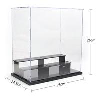 "Self-Assembly Acrylic Plastic PVC Display Box Showcase Protection 3 steps 9.75x5.66x10.14"" figure model Doll Dollhouse Case"