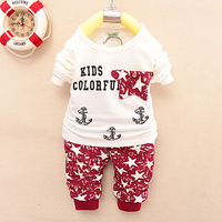 Wholesale Long Sleeves baby boys clothing set long sleeves cotton t-shirt and pants 2pcs children's sets casual suit