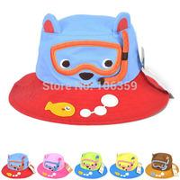 New Baby Spring Summer Bucket Sun Hat Diver Design Kids Beach Floppy Cap Cartoon Children's Topee Cap 5pcs SW017