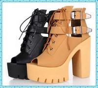 buckle summer shoes fashion platform shoes woman high heels open toe sandals for women shoes 2015 ladies peep toe pumps C861