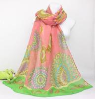 Bufandas Rushed Limited Print Bandana 2015 Women Ethnic Printed Silk Scarf Winter Long Cotton Scarves And Shawls Wholesale C0201
