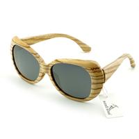 Personal Tailor Designer Brand Sunglasses Men's Zebra Stripe Fashion Aviator Summer Eyewear 100% Handmade Wood Sunglasses
