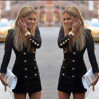 Vestido Sale Cotton Polyester Sheath Autumn Winter Dress Office Pencil 2015 New Fashion Casual Long Sleeve Women Dresses C307