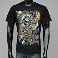 The New 3 D Men's Short Sleeve T-shirt Skulls Summer Trend Short Sleeve T-shirt Personality 3 D Printing T-shirt Men's