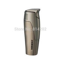 Grey Honest Torch Jet Flame Fuel Cigarette Lighter Refillable Butane Gas Lighter
