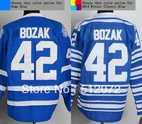 Toronto #42 Tyler Bozak Men's Authentic Home Blue/2014 Winter Classic Blue Hockey Jersey