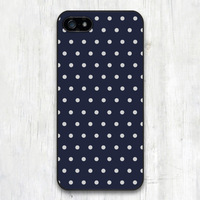 Navy Blue With Gray Polka Dots Protective Cover Plastic Case For Samsung Galaxy S5 S4 S3 with S4 Mini S3 Mini with Note 4 3 2