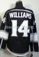 Los Angeles #14 Justin Williams Men's Authentic Home Black Hockey Jersey
