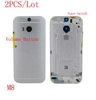 (H4M8B02AM)(2PCS/Lot by AM) 100% Original Quality Guarantee for HTC One M8 831C Battery Back Cover Housing Door Silver