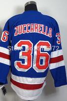 New York #36 Mats Zuccarello Men's Authentic Home Blue Hockey Jersey