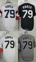 Chicago #79 Jose Abreu Men's Authentic Cool Base Alternate Home White/Alternate Home Black/Home White/Road Grey Baseball Jersey