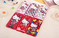 2015 New fashion design Western cartoon characters,Hello Kitty TPU Soft Back Cover For iphone6 4.7/5.5 inch,free shipping