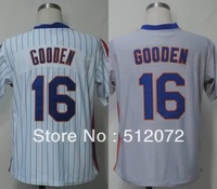 New York #16 Dwight Gooden Men's Authentic Throwback 1986 Home White 1987 Road Grey Baseball Jersey