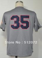 Atlanta #35 Phil Niekro Men's Authentic Throwback 1969 Road Grey Baseball Jersey