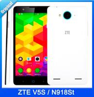 "original ZTE V5S N918St 4G mobile phone Android 4.4 5"" Qualcomm 1GB RAM 8GB ROM 8MP WCDMA FDD LTE 4G GPS 54 language google play"