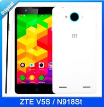 original ZTE V5S N918St 4G mobile phone Android 4.4 5″ Qualcomm 1GB RAM 8GB ROM 8MP WCDMA FDD LTE 4G GPS 54 language google play