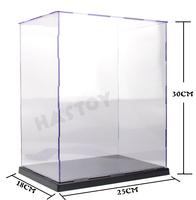 "Self-Assembly Acrylic Plastic PVC Display Box Showcase Protection  9.75x7.02x11.7"" figure model Doll Dollhouse Case"