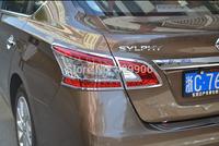 New Chrome Rear Tail Light Cover Trim for Nissan Sentra 2013 2014