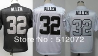 Los Angeles #32 Marcus Allen Men's Authentic Throwback 1984 Team Black/White/Alternate White Football Jersey