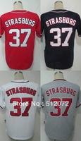 Washington #37 Stephen Strasburg Men's Authentic Cool Base Alternate Red/Alternate Navy/Home White/Road Grey Baseball Jersey