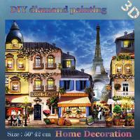 DIY Full diamond embroidery Sunny day Eiffel Tower Landscape Handmade crafts home decor diamond mosaic wall decor Gift