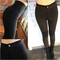 New Style Women Skinny Denim Stretch Leggings High Waist Jeans Pants For Woman Elastic Jean