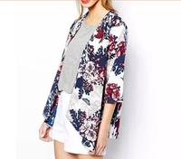 New Fashion Spain Style Women's Vintage Flower Print Chiffon Blouse Shirt Women Loose Chiffon Kimono Cardigan yw15009