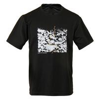 IKAI Brand Men Short Sleeves Tee Shirt Fashion Breathable Hiking T-Shirt Lightweight Slim Fitness Men's Print Tops HMD0075-2