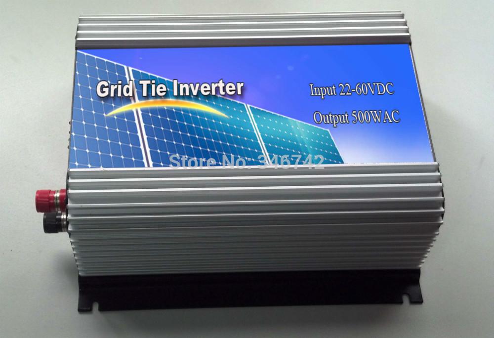 grid tie inverter 500W, DC22-60V to AC 90-140/180-260V, pure sine wave output,500W solar power inverter,home inverter 500W(China (Mainland))