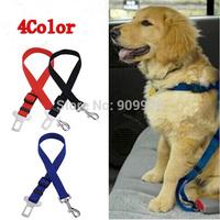2015 New Outdoor Dog Safety Belt Dog Pet  Adjustable Car Safety Seat Belt Harness Restraint Lead Travel Clip Dog Traction Belt