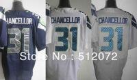 Seattle #31 Kam Chancellor Men's Authentic Elite Team Navy/White/Alternate Grey Football Jersey