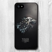 Game Of Thrones House Stark GOT Pattern Plastic Case For Samsung Galaxy S5 S4 S3 with S4 Mini S3 Mini with Note 4 3 2