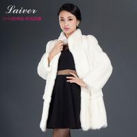 Marten 2014 mink overcoat female mink fur coat medium-long