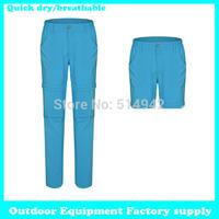 Dropshipping free shipping new 2015 outdoor camping Elastic sportswear sports mountain quick-drying women hiking pants summer
