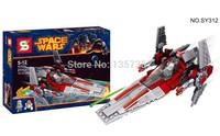 Original Box Star Wars V-Wing Starfighter SY312 Building Blocks Sets Model Toys For Children Lego Compatible