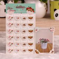 DIY Photo Album Corner Stickers Scrapbooking Album Frames Cute Animals Flowers Designs 24pcs/sheet 10 sheets/lot(240pcs/lot)