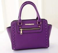 2015 NEW bags handbags women famous brands 4 colors Korean rivet bag brand new boom Lady baodan shoulder handbag women bag