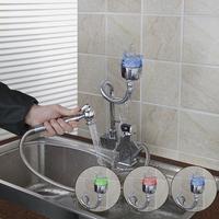 Ouboni New Design tira led  Pull Out LED Kitchen Faucet Chrome Polished Basin Tap Mixer lighter torneira cozinha 92347-2/4