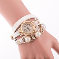 Women Dress Watches Pearl Leather Wristwatches Winner Bracelet Luxury Rose Gold Relogio Feminino Top Brand Pink Fashion reloj