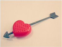 Free Shipping Valentine Gift Cupid Heart Silicone Teapot Teacup Tea Strainer Infuser Filter