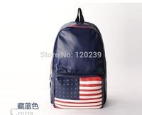 2015 RAXH American Flag Rivet backpack Fashion Student bag School bag Hot sale bag women bag