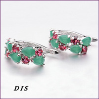 Brand New Clip Earrings Beautiful Jewelry Pendientes Brincos Cubic Zirconia Material Great Gift Earrings for Women DIS1213009