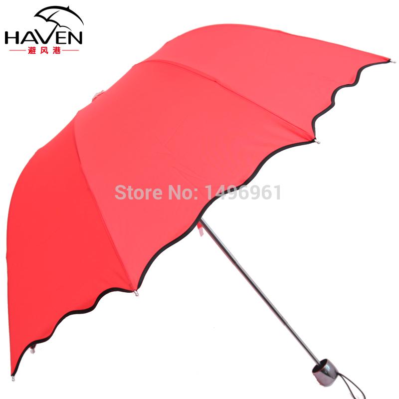 umbrellas rain women Haven authentic free shipping super sunscreen UV water open umbrellas folding umbrellas folded umbrellas(China (Mainland))