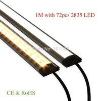 LED Rigid strip light 5050, 1m with 60pcs 5050 smd led,  14.4w/m, 12V, led alumium bar light