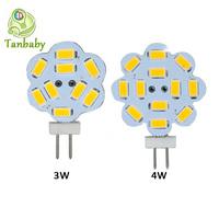Tanbaby 5pcs X G4 led spotlight bulb 3W 4W ac/dc12V crystal led chandelier bead SMD 5730 lighting lamp